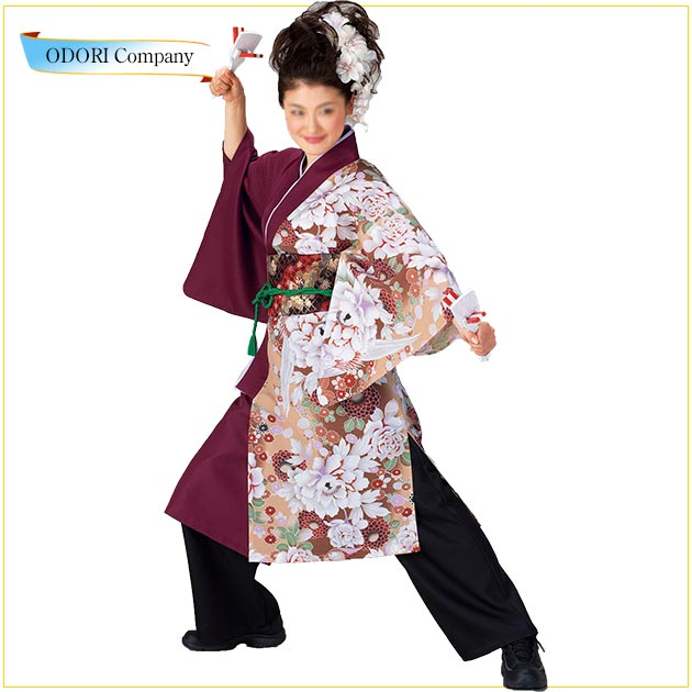 限定価格セール! よさこい 衣装 レディース 大人 レディース 長袢天 おしゃれ 大人 よさこい 花柄, 名護市:93f1b060 --- gipsari.com