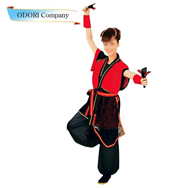 よさこい 衣装 法被 大人用 ロング 長法被 長袢天 赤色