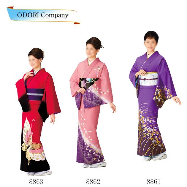 踊り 着物 女物 単衣 仕立上がり 附下訪問着洗える着物 日本舞踊 踊り衣装 絵羽 紫 ピンク 赤レディース