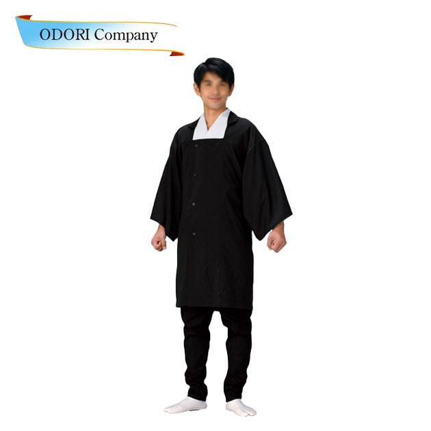 袢天コート 半纏 撥水加工 黒 男物コート 和装コート 防寒用