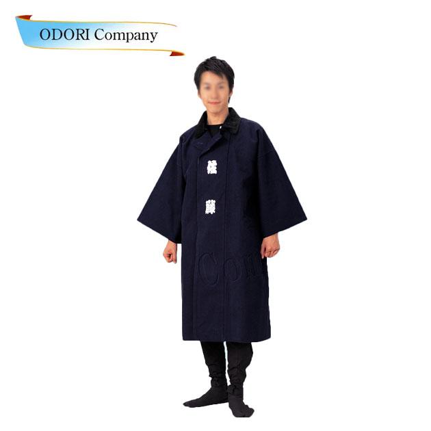 袢天コート 刺子 濃紺 半纏 男物コート 和装コート 防寒用