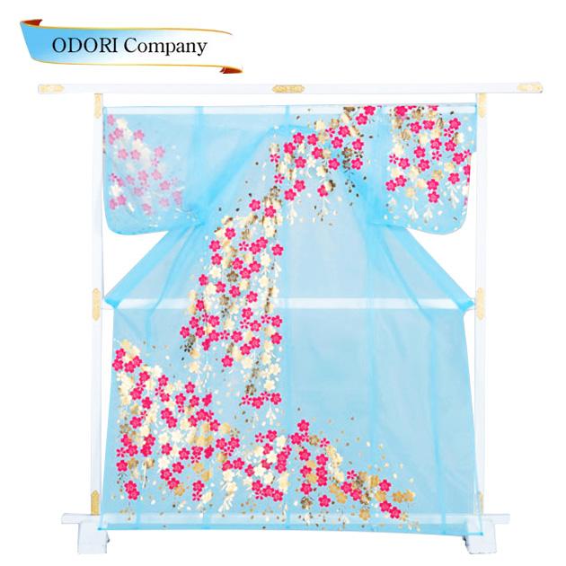 かつぎ 桜 水色被衣 ※こちらはかけ仕立てでのお届けですかつぎ仕立にもできます。