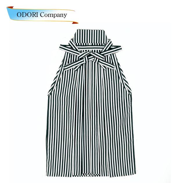 踊り用 袴 縞 はかま グレー 黒(縞巾約8mm)舞台衣裳、卒業式、成人式等にも「きぬずれ」