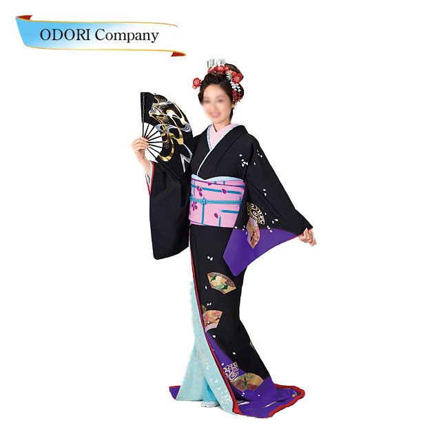 裾引き 舞踊 着物 裾引き 芸者着 仕立上がり ポリエステル日本舞踊、歌謡舞踊のステージ用。着物(きもの)