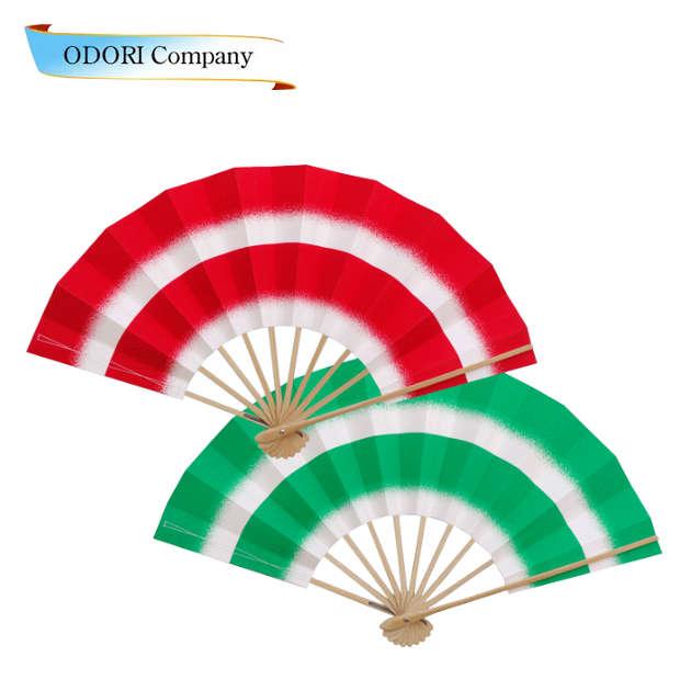 すずめ踊り用 扇子 50本1組 舞扇子(まいせんす) 扇子 踊り用 片面違い 表・赤/裏・緑こちらの商品は50本1組です。 飾り用