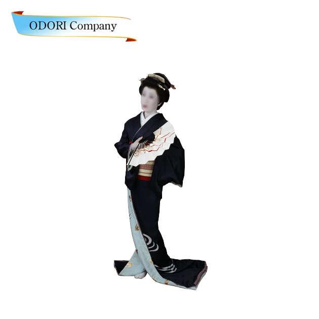 踊り 着物 裾引き 正絹製袷せ仕立て上がり比翼付日本舞踊の舞台衣裳に。着物(きもの)