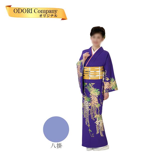 踊り 着物 附下 絵羽 日本舞踊 30-32胴抜き仕立上がり紫地 藤花