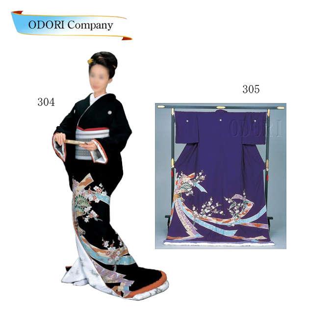 踊り 着物 裾引き 芸者着 大衆 演劇 仕立上がり ポリエステル 日本舞踊、歌謡舞踊のステージ用 着物