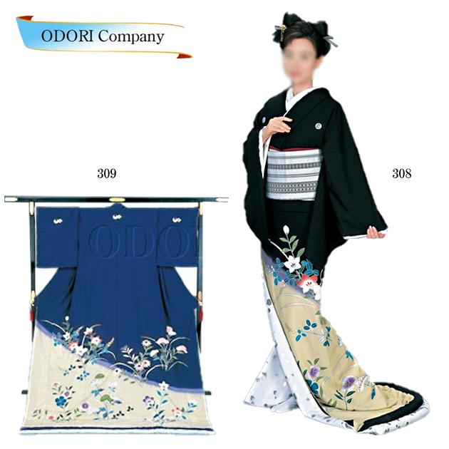 踊り 着物 裾引き 芸者着 大衆 演劇 仕立上がり ポリエステル 日本舞踊、歌謡舞踊のステージ用 着物(きもの)
