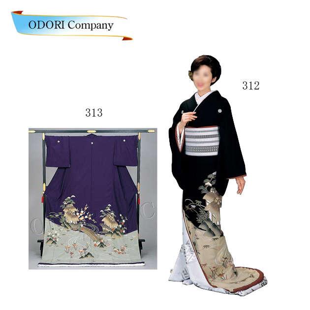 踊り 着物 裾引き 芸者着 大衆 演劇 仕立上がり ポリエステル日本舞踊、歌謡舞踊のステージ用 着物