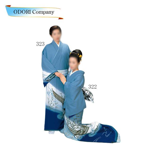 踊り 着物 裾引き 道行衣裳 仕立上がり日本舞踊、歌謡舞踊のステージ用。着物(きもの)