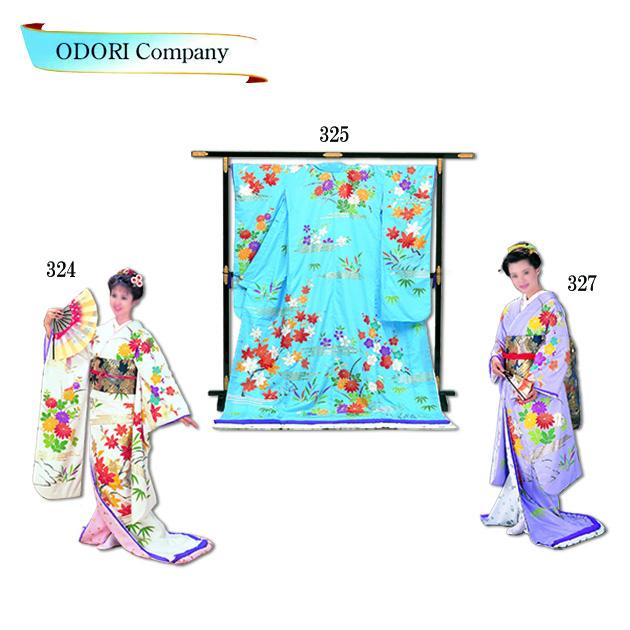 踊り 着物 裾引き振袖 御守殿 仕立上がり 大衆 演劇 日本舞踊、歌謡舞踊のステージ用 着物(きもの)