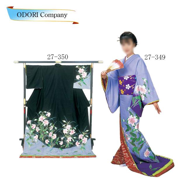踊り 着物 踊り 着物 裾引き 芸者着 仕立上がり ポリエステル日本舞踊、歌謡舞踊のステージ用。