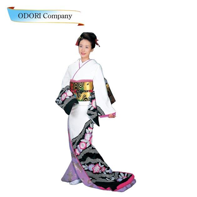 裾引き 舞踊 着物 芸者着 仕立上がり ポリエステル日本舞踊、歌謡舞踊のステージ用。着物(きもの)
