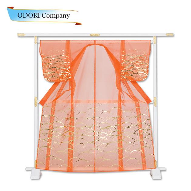 かつぎ かけ仕立 オレンジ 金被衣 ※こちらはかけ仕立てでのお届けですかつぎ仕立にもできます。