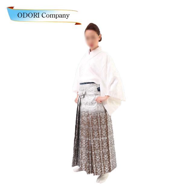 踊り 袴 舞台衣裳 金襴織 袴 はかま 白地茶ぼかし 詩舞、吟舞をはじめ舞踊全般に
