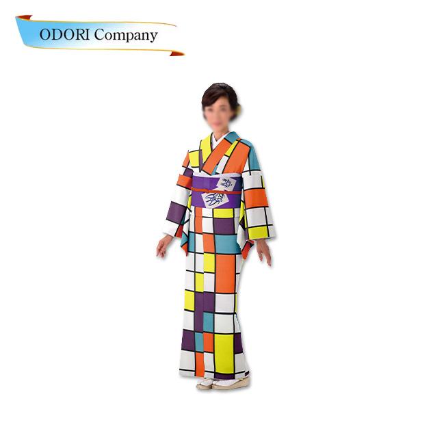 踊り 胴抜き 仕立て上がり 着物ジャガード織生地使用