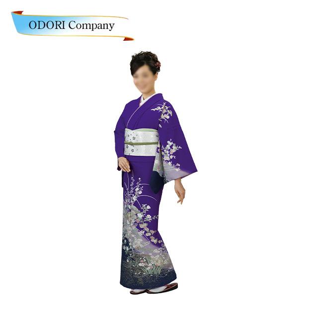 踊り用 着物(きもの) 附下訪問着 洗える着物 日本の踊り 胴抜 仕立て上がり 絵羽