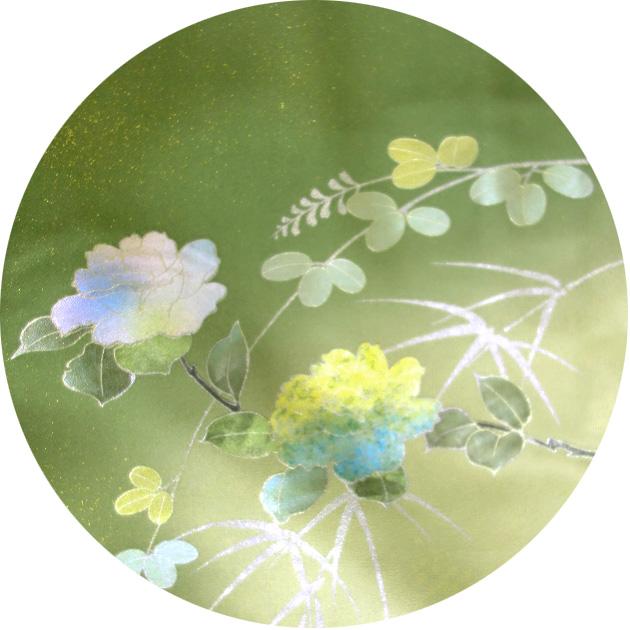 着物 正絹 訪問着 きもの 袷せ 仕立上り 花柄 ぼかし 一点限り Z 3FzMSULpGVq