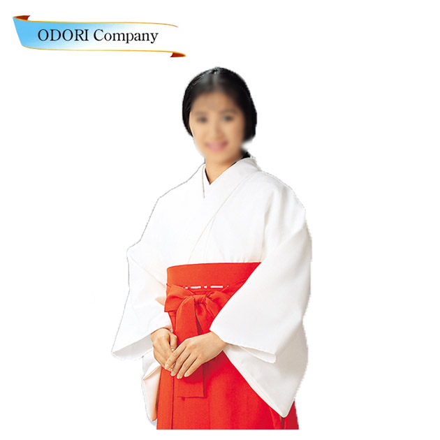 巫女装束 神職 寺 神社 白衣