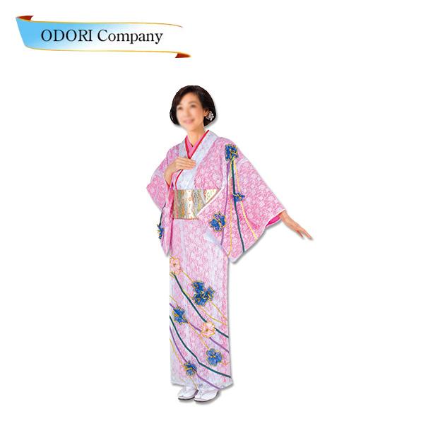 踊り 着物 きもの 優美胴抜き仕立上り洗える着物 踊り 訪問着 衣装 襦袢 ピンク