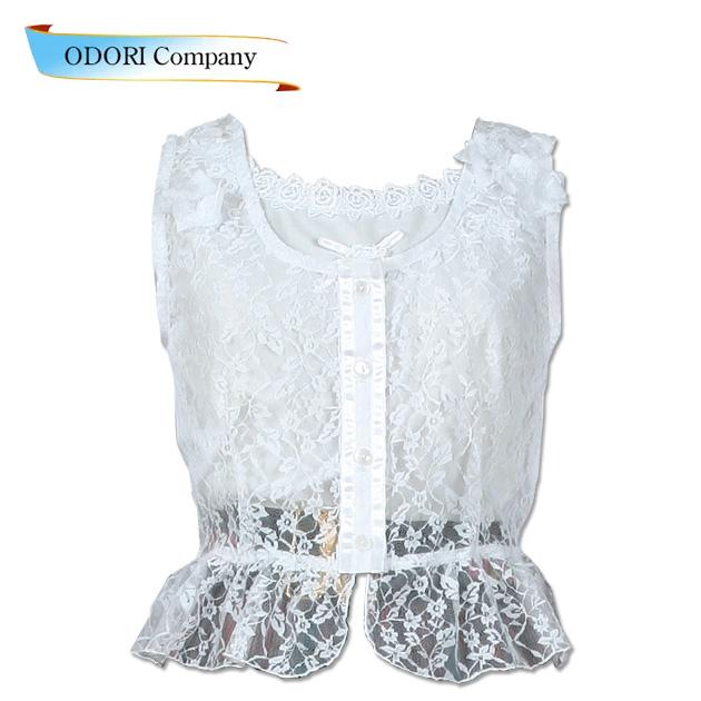 フォークダンス衣装 レースベスト白 プリティードール