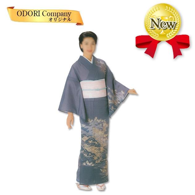 踊り 着物 舞踊 駒絽絵羽 単衣仕立て フリーサイズ 仕立て上がり 薄紫 金花模様 当店限定商品