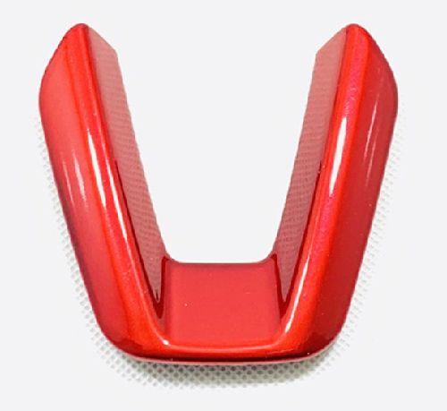 お求めやすく価格改定 ハンドルのドレスアップにいかがですか? 送料無料 CX-3 CX-5 CX-8 アテンザ アクセラ デミオ レッド ハンドル 贈答 カスタムパーツ ガーニッシュ ドレスアップ 内装 ステアリング