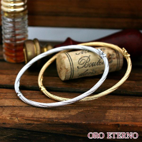 【送料無料】ORO ETERNO バングル レディース ゴールド 18k 18金 バングル k18 ブレスレット イエローゴールド ホワイトゴールド
