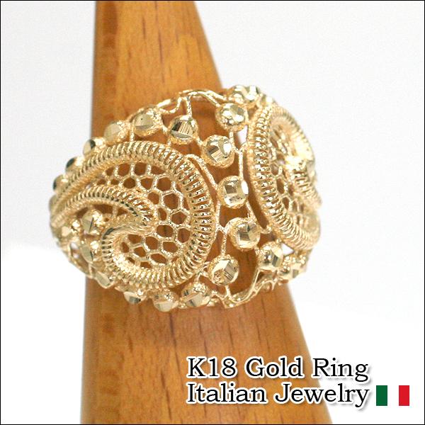 Italian Jewelry 18 Karat Gold 18k K18 Yellow Goldring Ring Luce Roux Che Rra0766 10p11jan14