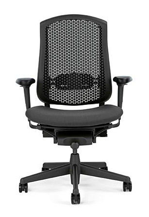 [HermanMiller] セラチェア (Celle Chairs)座面ファブリックシート / セルラーバック / グラファイトカラーベース / アームパッド:ブラック【完成品/家財便配送/梱包材処分費込】ハーマンミラーアーロンチェア後継機オフィスチェアー/EGP