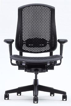 [HermanMiller] セラチェア (Celle Chairs)セルラーバック・シート(背・座面カラー:ブラック)グラファイトカラーベース / アームパッド:ブラック【梱包材を無料で処分】【家財便配送】ハーマンミラーオフィスチェアー/EGP