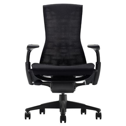 [HermanMiller] エンボディチェア(Embody Chair)【グラファイトカラーベース】【グラファイトカラーフレーム】【シートカラー:ブラック(バランスファブリック)】【梱包材を無料で処分】【家財便配送】【EGP】ハーマンミラー