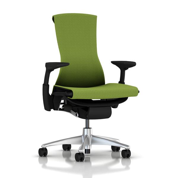 【完成品/家財便配送/梱包材処分費込】[HermanMiller] エンボディチェア(Embody Chair)【シートタイプ:バランスファブリック】 【チタニウムカラーベース】【グラファイトカラーフレーム】【EGP】ハーマンミラーアーロンチェア後継機
