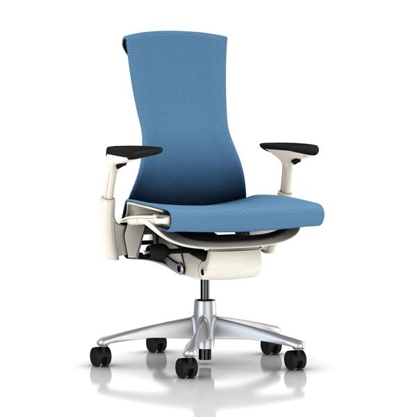 【完成品/家財便配送/梱包材処分費込】[HermanMiller] エンボディチェア(Embody Chair)【シートタイプ:バランスファブリック】 【チタミウムカラーベース】【ホワイトカラーフレーム】【EGP】ハーマンミラーアーロンチェアの後継機