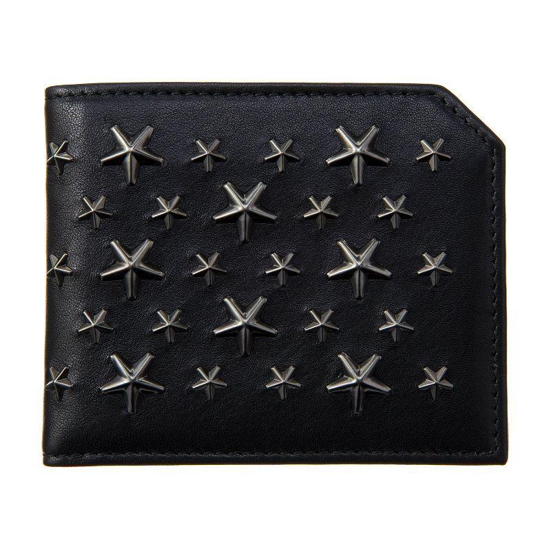 ジミーチュウ 財布 メンズ レディース ブラック JIMMY CHOO ALBANY BLS BLACK/GUNMETAL ブラック 誕生日 ブランド かっこいい 父の日 プレゼントにも 高級 20代 30代 40代 50代 60代 あす楽 送料無料 返品OK