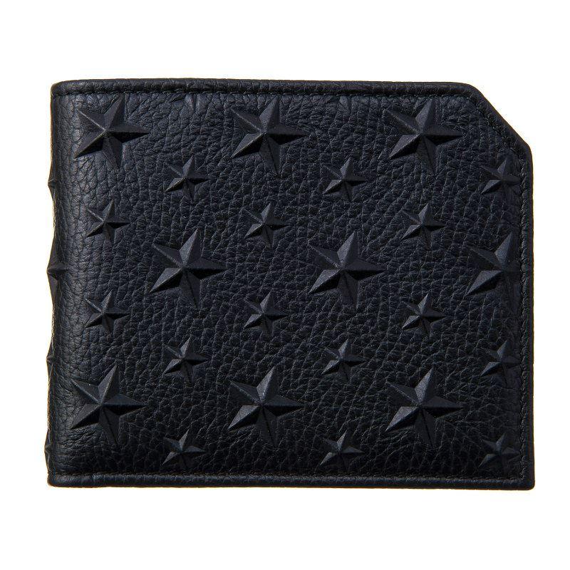 ジミーチュウ 財布 メンズ レディース ブラック JIMMY CHOO ALBANY EMG BLACK ブラック 誕生日 ブランド かっこいい 父の日 プレゼントにも 高級 20代 30代 40代 50代 60代 あす楽 送料無料 返品OK