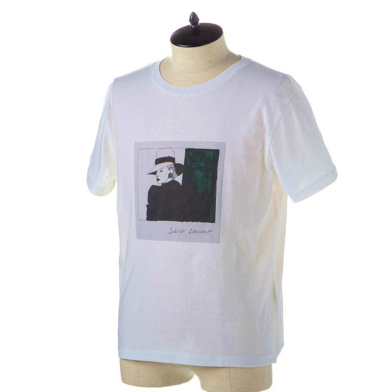 サンローラン Tシャツ メンズ 551370 YBBG2 8486 NATUREL-MULTICOLORE 誕生日 ブランド かっこいい 父の日 プレゼントにも 高級 20代 30代 40代 50代 60代 あす楽 送料無料 返品OK
