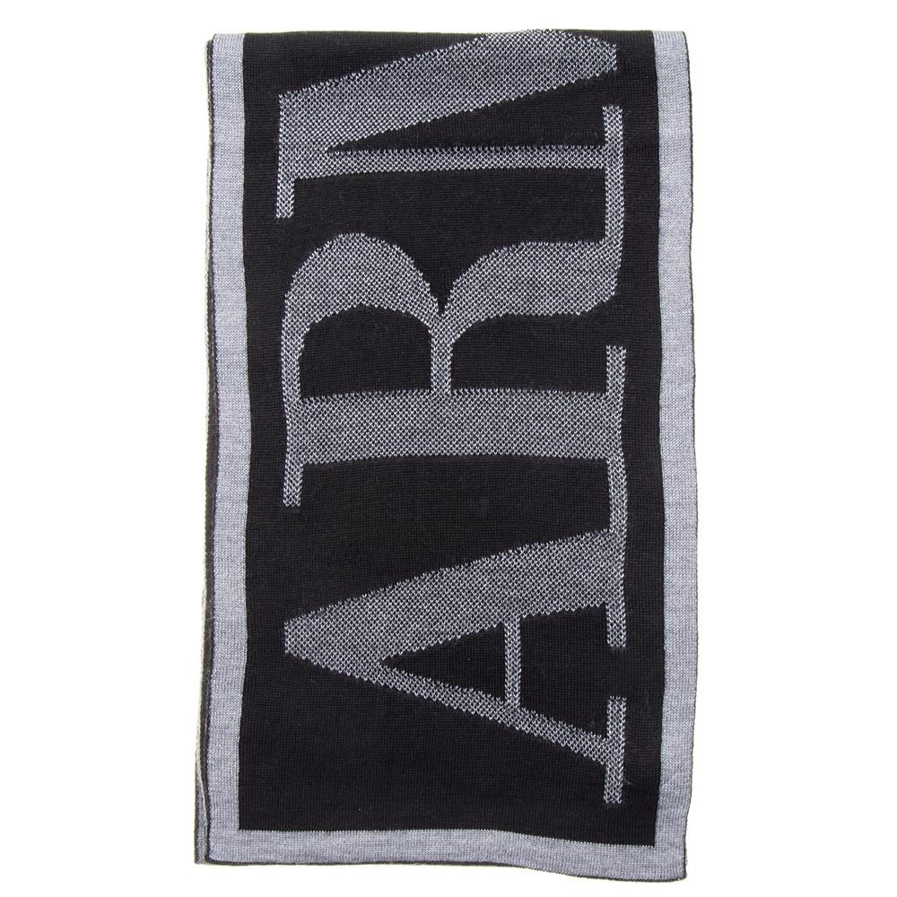 アルマーニジーンズ ARMANI JEANS マフラー 934106 CD715 03320 ブラック/グレー メンズ レディース 誕生日 ブランド プレゼントにも あす楽 返品OK