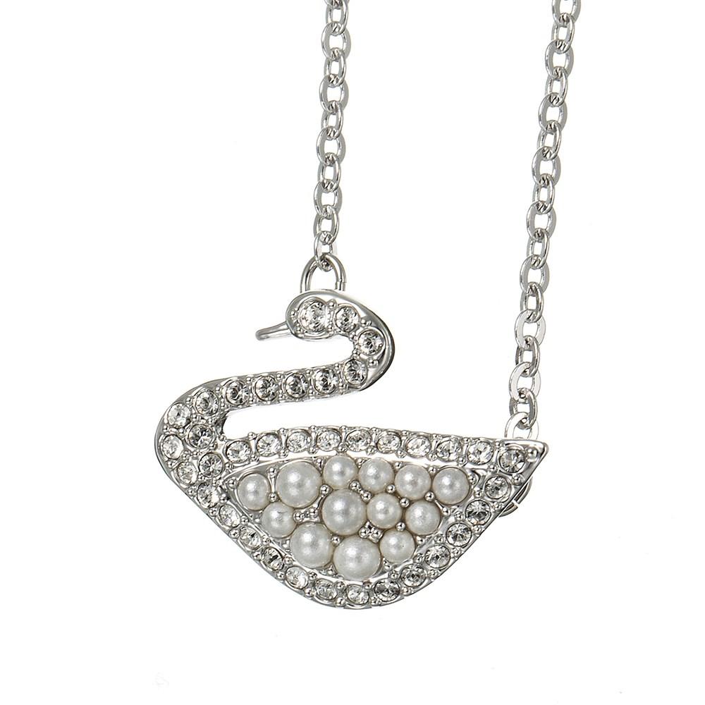 スワロフスキー SAWROVSKI ネックレス 5416605 ホワイト レディース Iconic Swan Micro Pearl Necklace 誕生日 ブランド プレゼントにも 高級 20代 30代 40代 50代 60代 あす楽 送料無料 ポイント消化