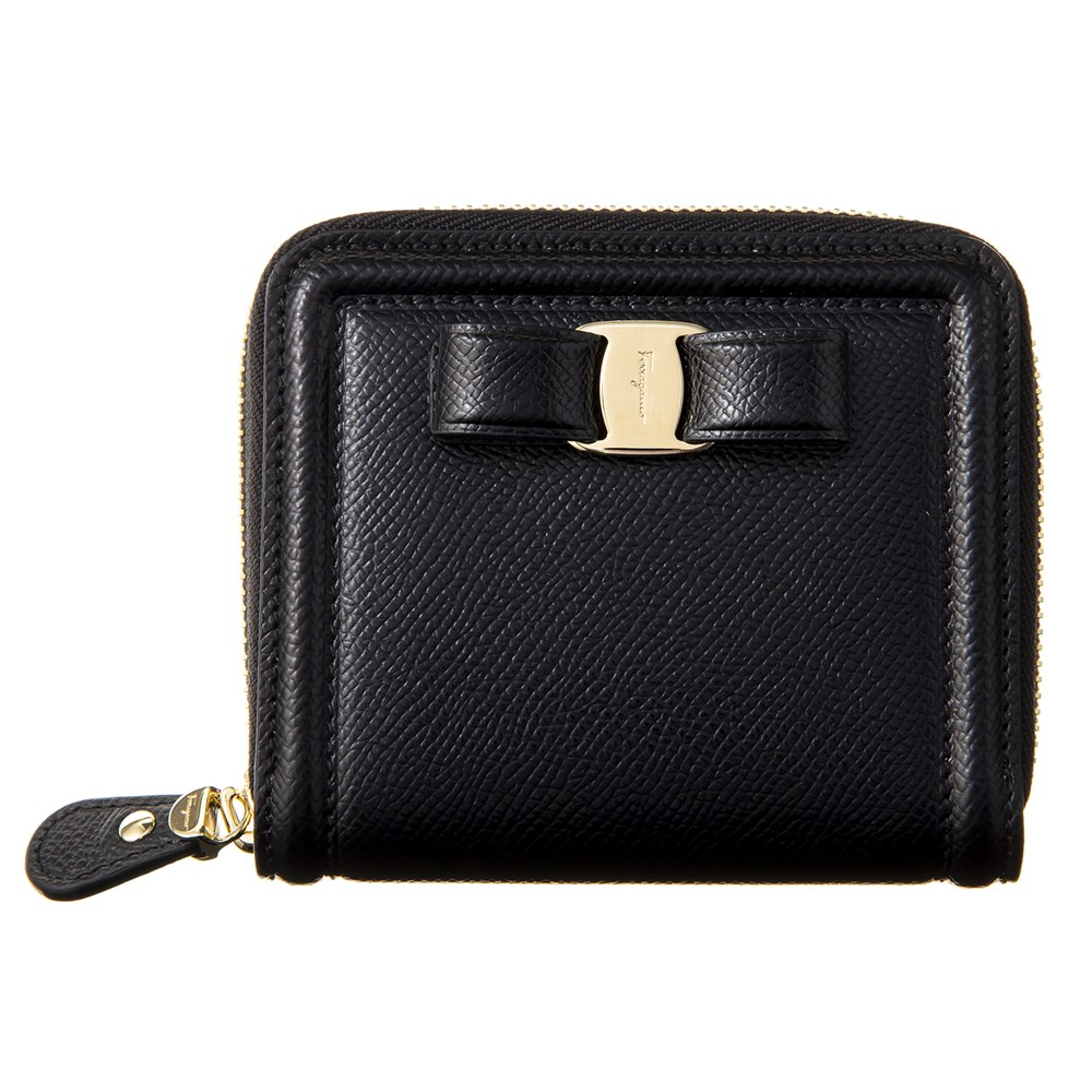 フェラガモ ミニ財布 財布 ブラック レディース Ferrgamo 22D156 683537 誕生日 ブランド プレゼントにも 高級 20代 30代 40代 50代 60代 あす楽 新入荷