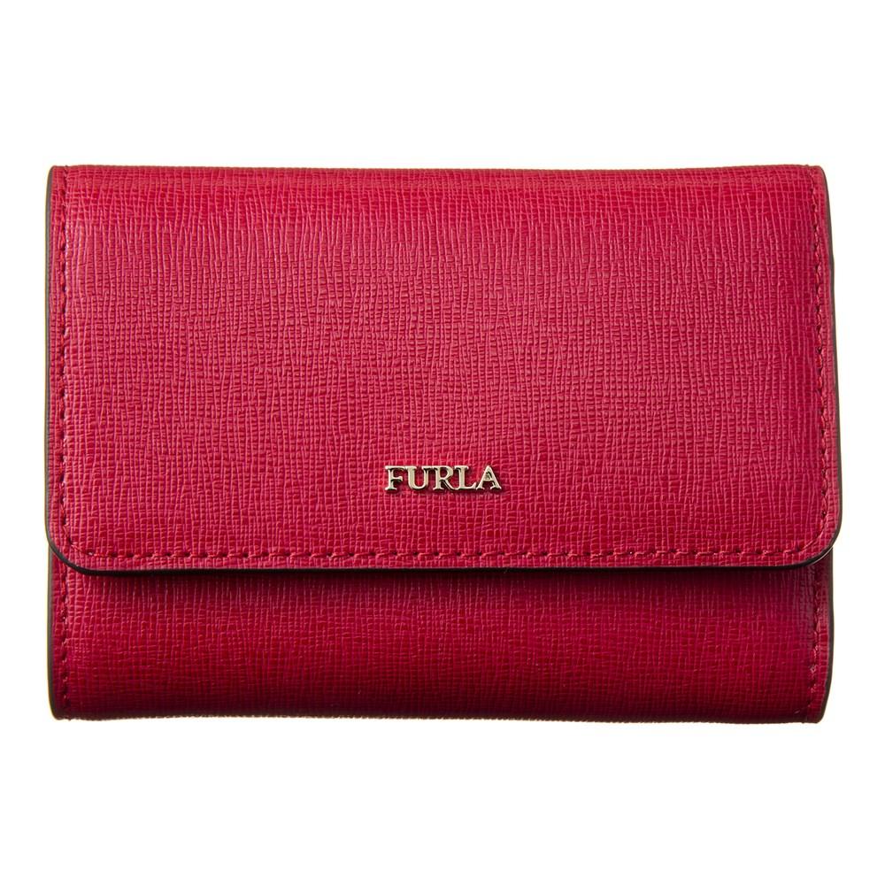 フルラ 三つ折り財布 財布 レッド ミニ財布 レディース FURLA PR76 B30 RUB 872819 BABYLON S TRI-FOLD 誕生日 ブランド プレゼントにも 高級 20代 30代 40代 50代 60代 あす楽 新入荷