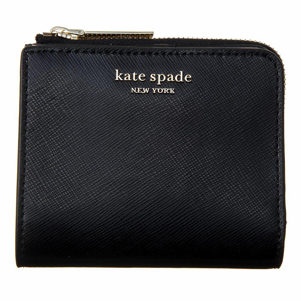 ケイトスペード レディース 二つ折り財布 ブラック KATE SPADE PWRU7765 001 高級 おしゃれ 誕生日 プレゼント