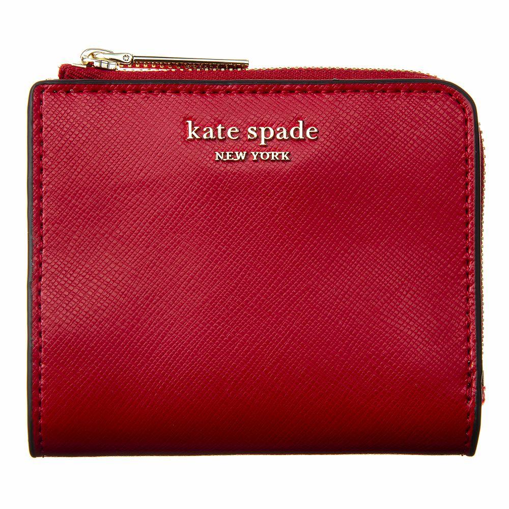 ケイトスペード レディース 二つ折り財布 レッド KATE SPADE PWRU7765 611 高級 おしゃれ 誕生日 プレゼント
