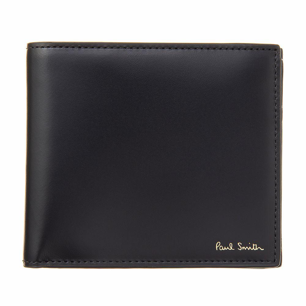 ポールスミス メンズ 二つ折り財布 ブラック Paul Smith M1A 4833 A40017 79-Black 高級 おしゃれ 誕生日 プレゼント