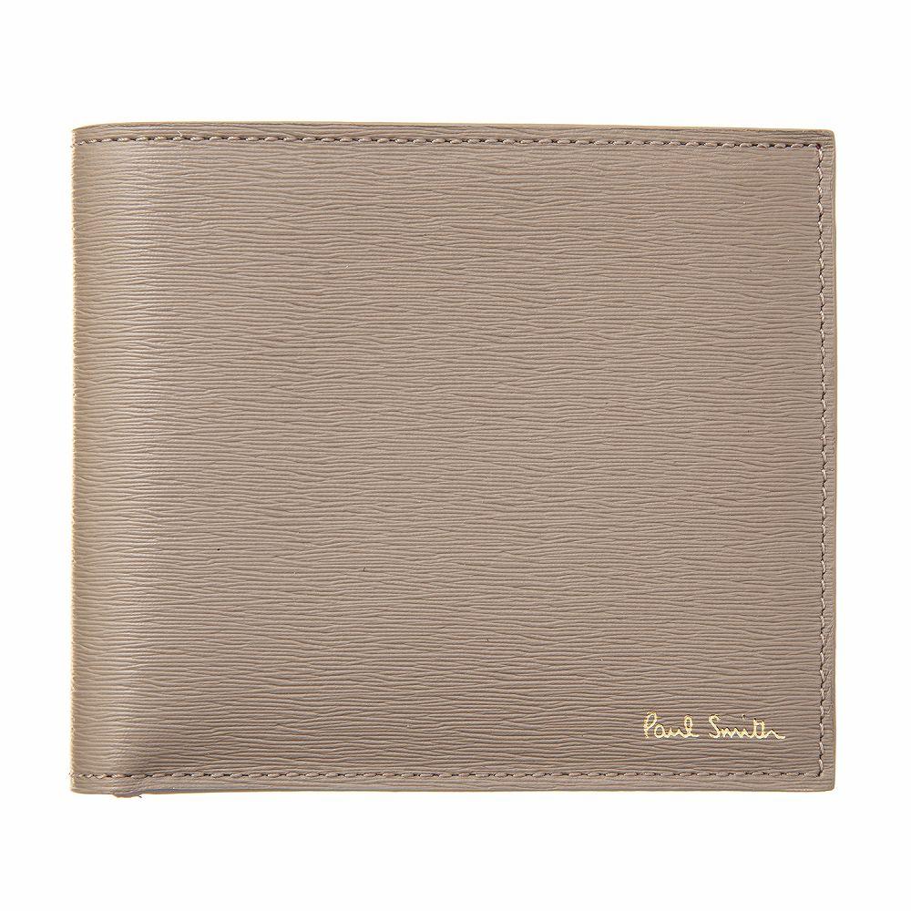 ポールスミス メンズ 二つ折り財布 ベージュ Paul Smith M1A 4833 ASTRGR 73-Taupe 高級 おしゃれ 誕生日 プレゼント