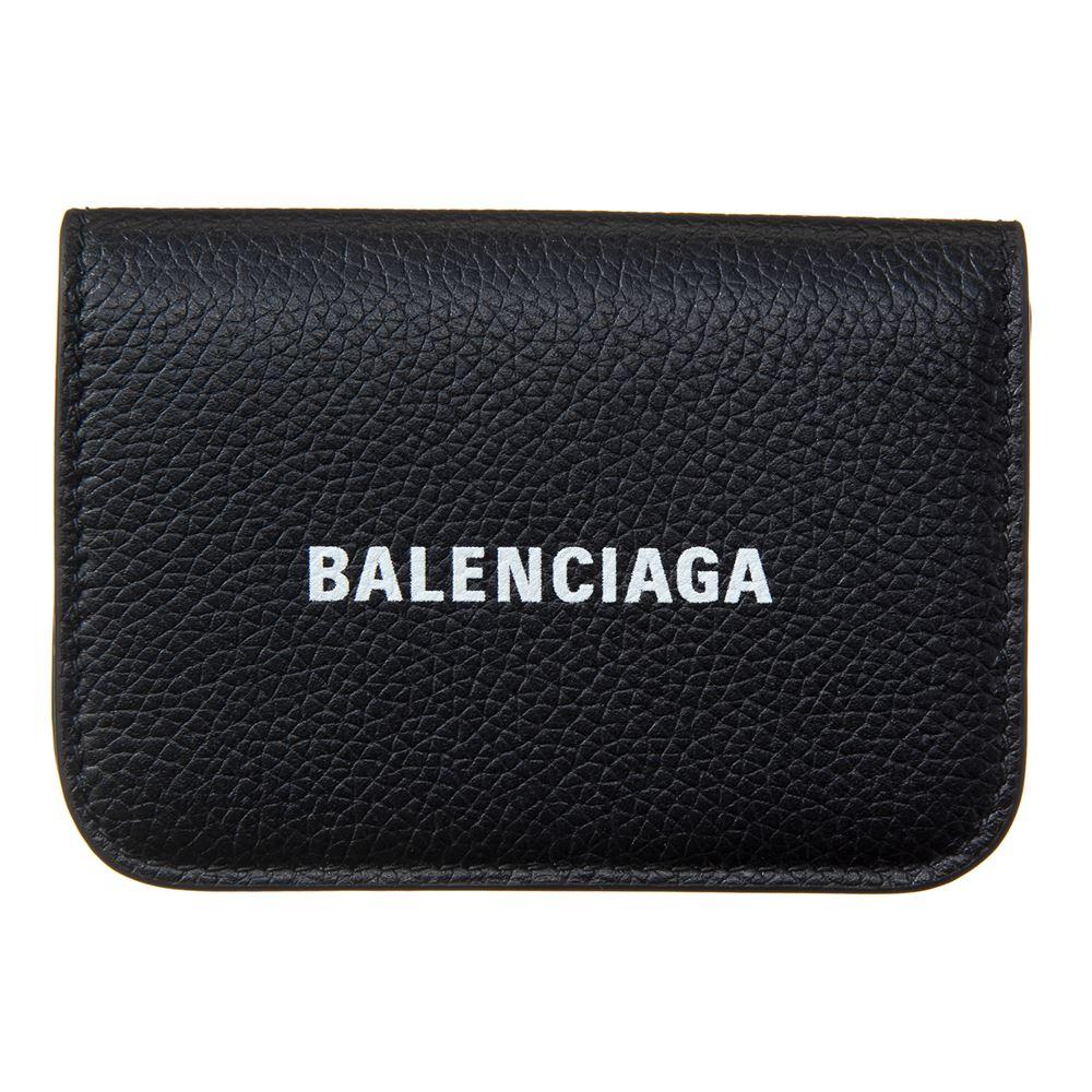 バレンシアガ レディース ミニ財布 BALENCIAGA 593813 1IZ4M 1090 ブラック 収納 ブランド コンパクト 本革 正面ロゴ 誕生日 プレゼント 送料無料