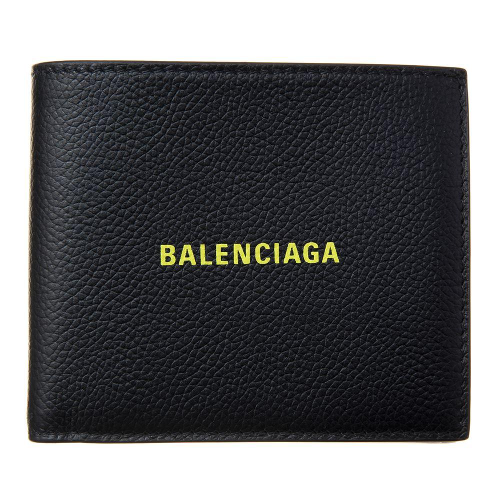 バレンシアガ メンズ 二つ折り財布 BALENCIAGA 594315 1IZF3 1072 ブラック ブランド たくさん入る 大容量 正面ロゴ 誕生日 プレゼント 送料無料