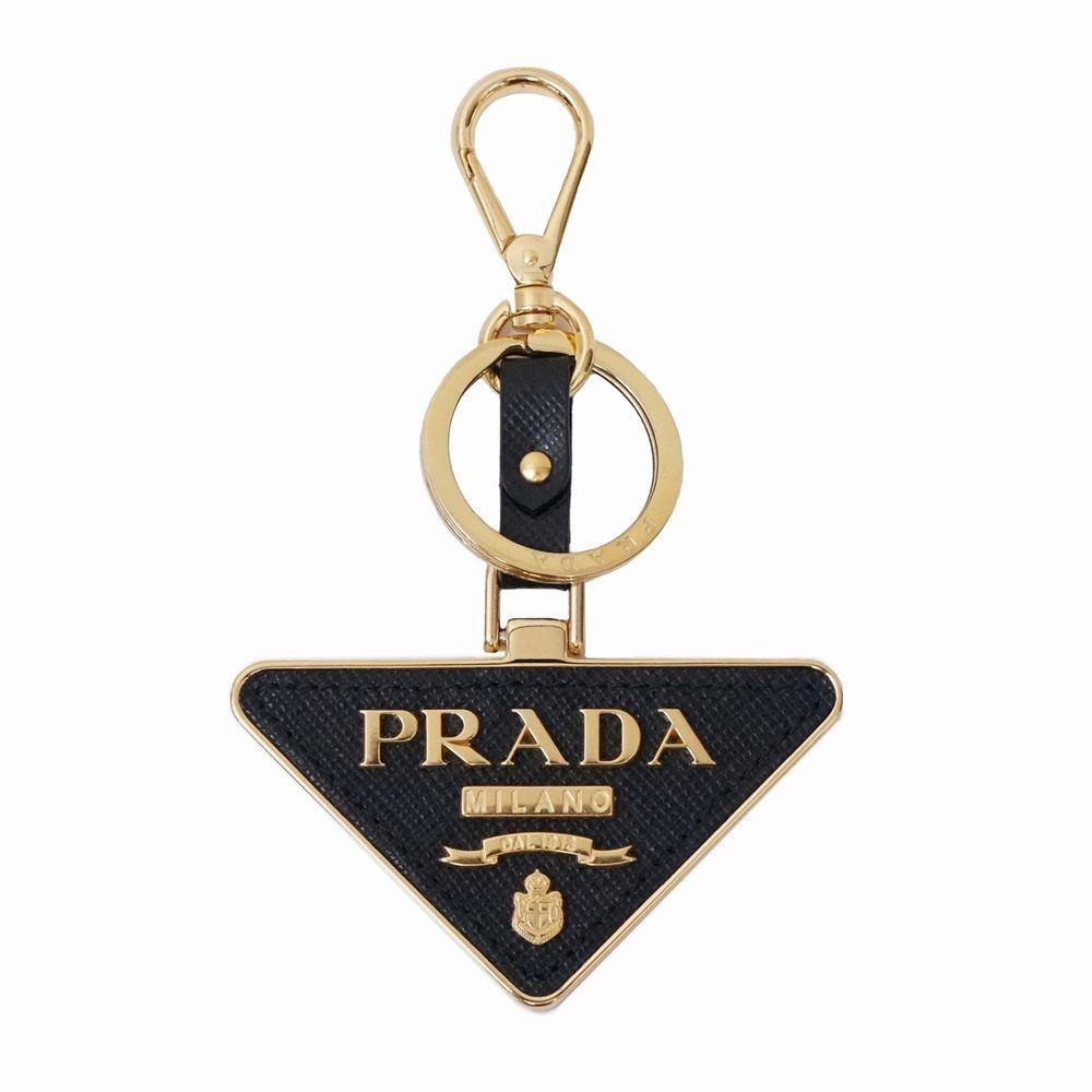 プラダ メンズ レディース キーリング PRADA 1TL380 2EWR F0002 ブラック/ゴールド 鍵 レディース ブランド 誕生日 プレゼント 送料無料