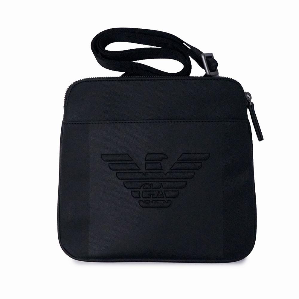 エンポリオ・アルマーニ メンズ ショルダーバッグ EMPORIO ARMANI Y4M177 YFE6J 81072 ブラック ブランド 斜めがけ 大人 黒 誕生日 プレゼント 送料無料